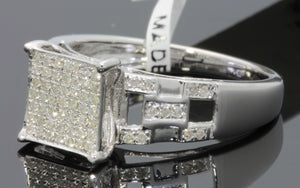.34 CARAT WOMENS LADIES WHITE GOLD FINISH DIAMOND ENGAGEMENT BRIDAL WEDDING RING