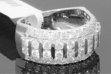 Load image into Gallery viewer, 10K WHITE GOLD 3.38 CARAT MENS REAL DIAMOND ENGAGEMENT WEDDING PINKY RING BAND