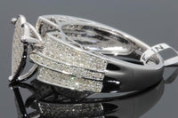 .74 CT DIAMOND STERLING SILVER RHODIUM HEART ENGAGEMENT BRIDAL WEDDING RING