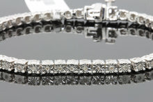 Load image into Gallery viewer, .30 CARAT MENS WHITE GOLD FINISH FANOOK REAL DIAMOND 1 ROW LINK TENNIS BRACELET