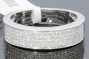 10K WHITE GOLD .46 CT REAL DIAMOND MENS WEDDING RING ANNIVERSARY ENGAGEMENT BAND