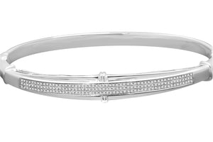 .51 CARAT WOMENS WHITE GOLD FINISH 100% REAL GENUINE DIAMOND BRACELET BANGLE