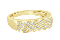 10K YELLOW GOLD .26 CARAT REAL DIAMOND ENGAGEMENT RING WEDDING PINKY RING BAND