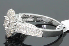 Load image into Gallery viewer, 10K WHITE GOLD 1 CARAT WOMEN REAL DIAMOND ENGAGEMENT RING WEDDING RING BRIDAL