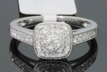 Load image into Gallery viewer, 10K WHITE GOLD .50 CARAT WOMENS REAL DIAMOND BRIDAL WEDDING RING ENGAGEMENT RING