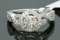 10K WHITE GOLD .75 CARAT WOMEN REAL DIAMOND ENGAGEMENT RING WEDDING BRIDAL BAND