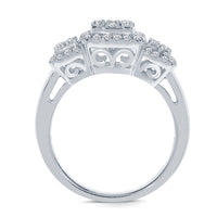 14K WHITE GOLD .85 CARAT WOMEN REAL DIAMOND BRIDAL WEDDING RING ENGAGEMENT RING