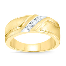 Load image into Gallery viewer, 10K YELLOW GOLD .26 CARAT MENS REAL DIAMOND ENGAGEMENT WEDDING PINKY RING BAND