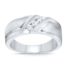 Load image into Gallery viewer, 10K WHITE GOLD .26 CARAT MENS REAL DIAMOND ENGAGEMENT WEDDING PINKY RING BAND