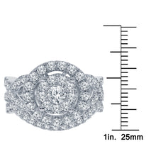 Load image into Gallery viewer, 10K WHITE GOLD 2 CARAT REAL DIAMOND ENGAGEMENT RING WEDDING BAND BRIDAL SET