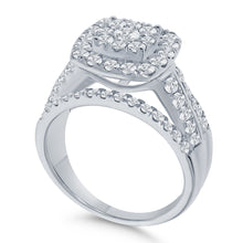Load image into Gallery viewer, 10K WHITE GOLD 2 CARAT WOMEN REAL DIAMOND ENGAGEMENT RING WEDDING RING BRIDAL