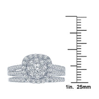 10K WHITE GOLD 1 CARAT REAL DIAMOND ENGAGEMENT RING WEDDING BAND BRIDAL SET