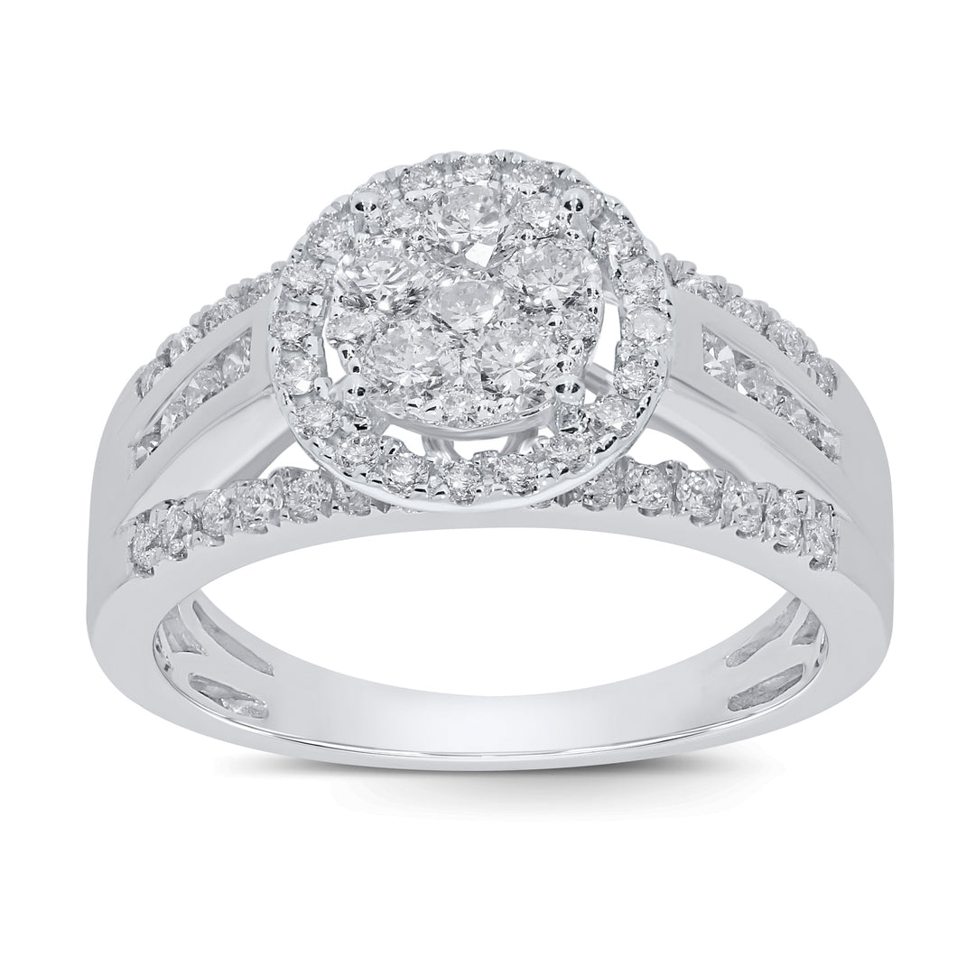 10K WHITE GOLD 1 CARAT WOMEN REAL DIAMOND ENGAGEMENT RING WEDDING RING BRIDAL