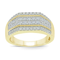 10K YELLOW GOLD .75 CARAT REAL DIAMOND ENGAGEMENT RING WEDDING RING BRIDAL BAND