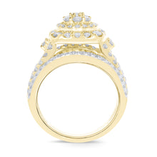 Load image into Gallery viewer, 10K YELLOW GOLD 3 CARAT WOMEN REAL DIAMOND ENGAGEMENT RING WEDDING RING BRIDAL