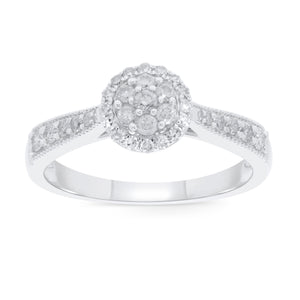 10K WHITE GOLD .40 CARAT WOMEN REAL DIAMOND ENGAGEMENT RING WEDDING RING BRIDAL