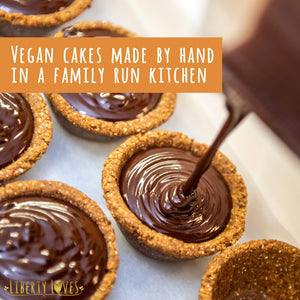 Vegan Mini Tarts 24 x 25g Dairy Free/Gluten Free -  750ml Gift Jar - Mint Choc Chip