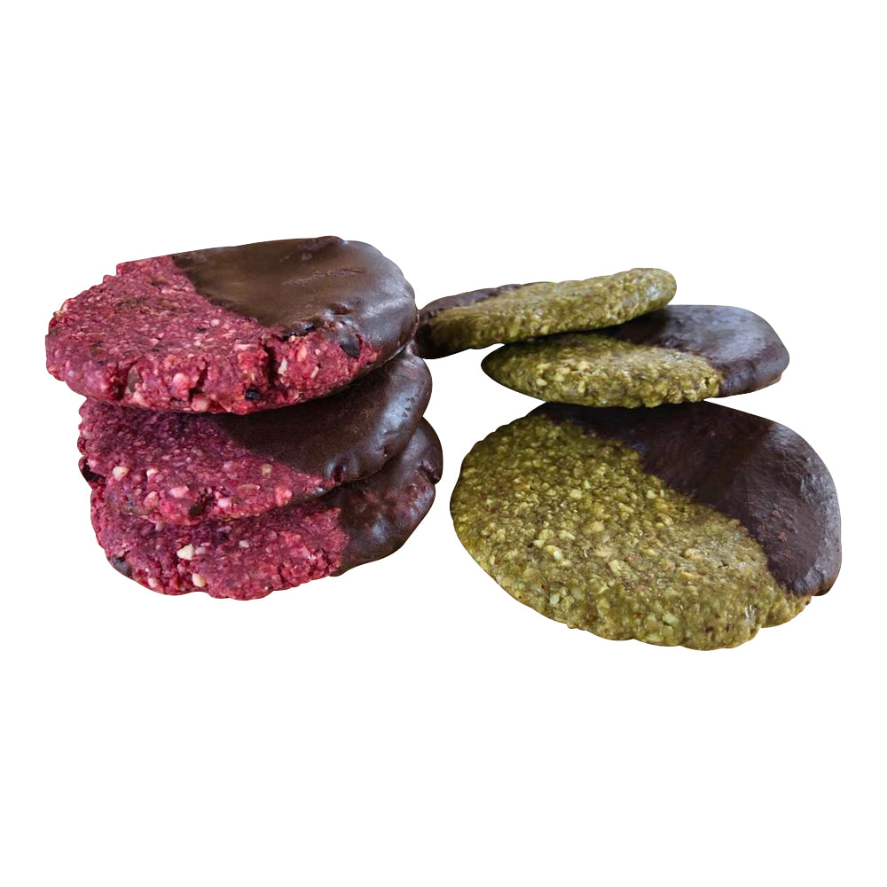 Raw Beetroot, Sour Cherry & Ginger Cookies