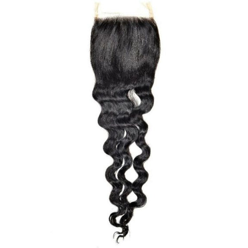 Transparent Brazilian Loose Wave Closure