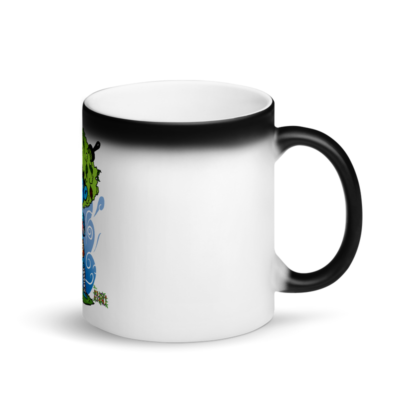 LAZE KUSH Sip Sum Matte Black Magic Mug