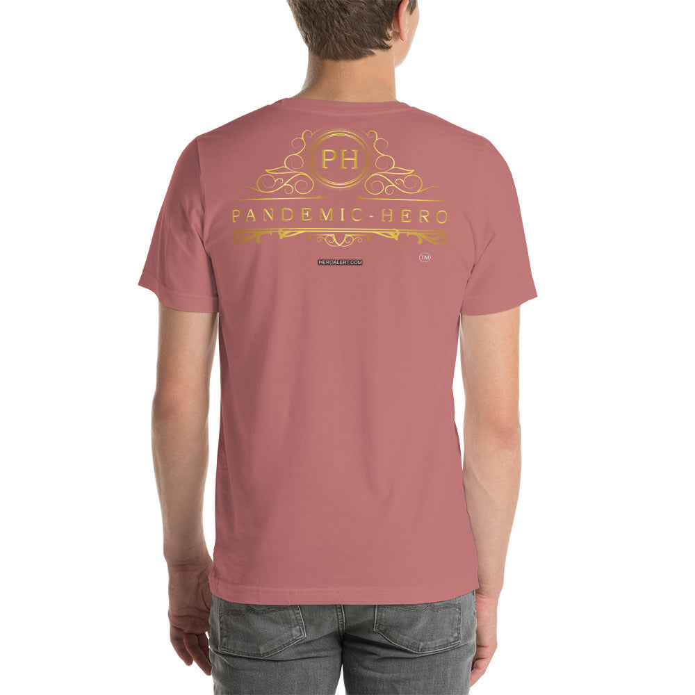 """PANDEMIC - HERO - 2"" Short-Sleeve Unisex T-Shirt"