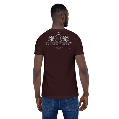 """PANDEMIC - HERO - 5"" Short-Sleeve Unisex T-Shirt"