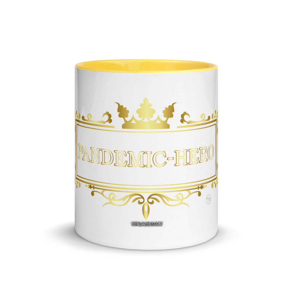 """PANDEMIC-HERO-9"" Mug with Color Inside"