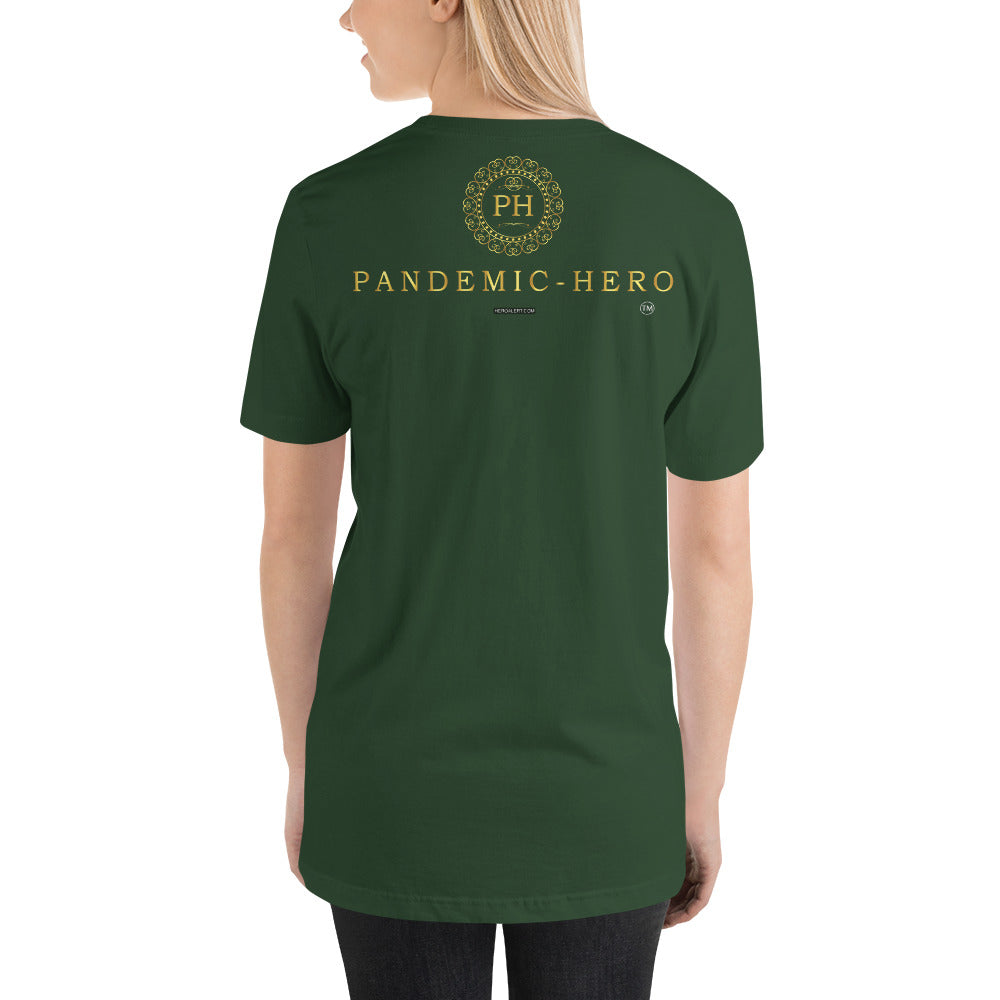 """PANDEMIC - HERO - 3"" Short-Sleeve Unisex T-Shirt"