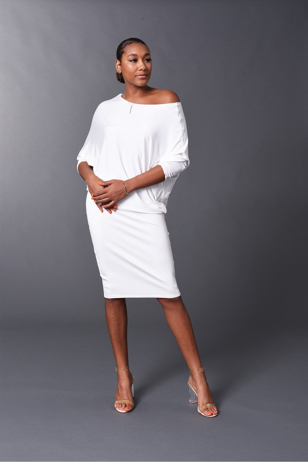 Kennedy - White Perfect Pencil Skirt