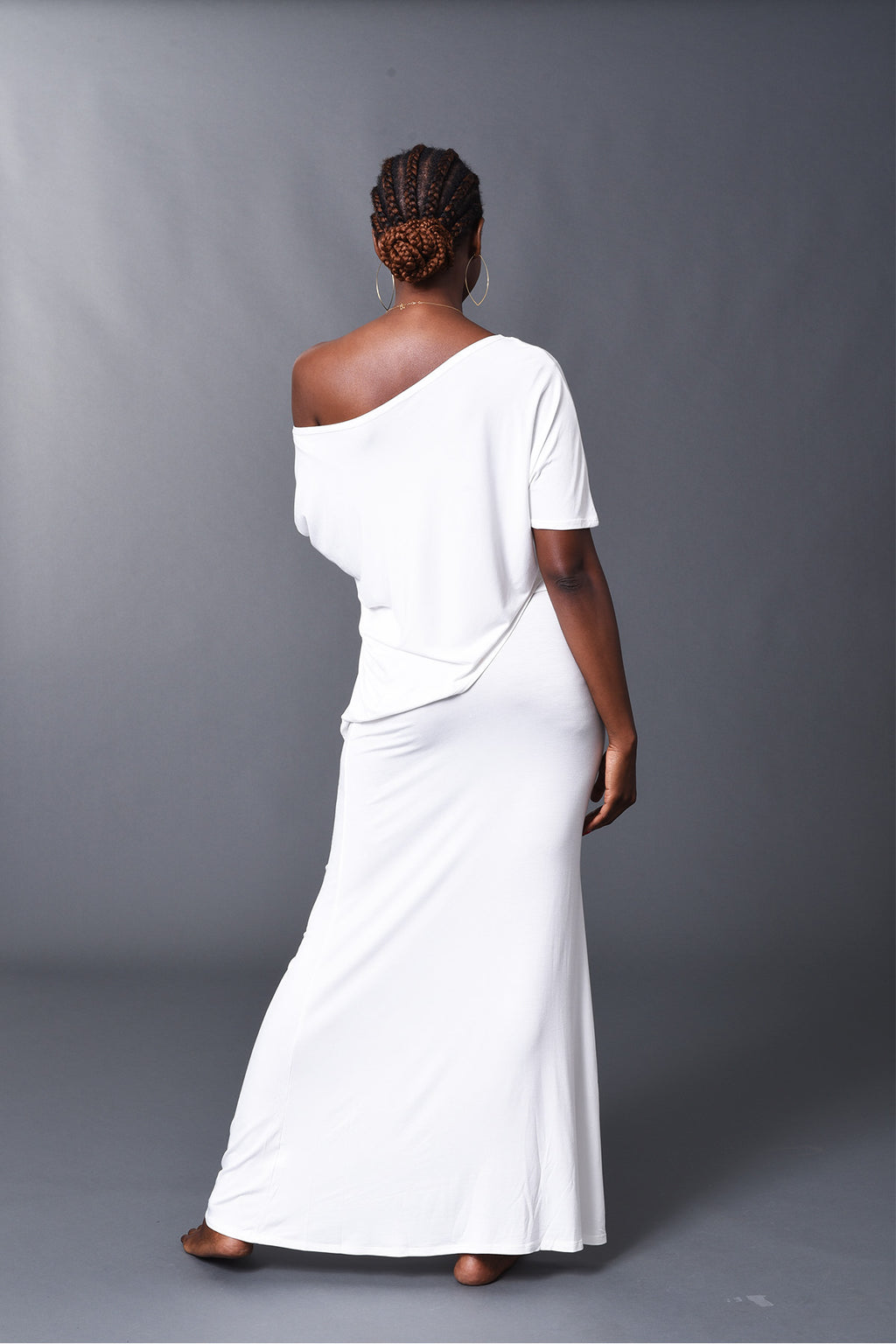 Camille - White Long Fitted Skirt