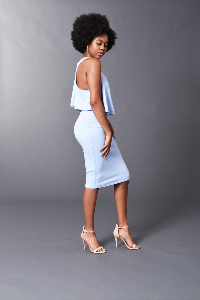 Kennedy - Spring/Summer Baby Blue Perfect Pencil Skirt