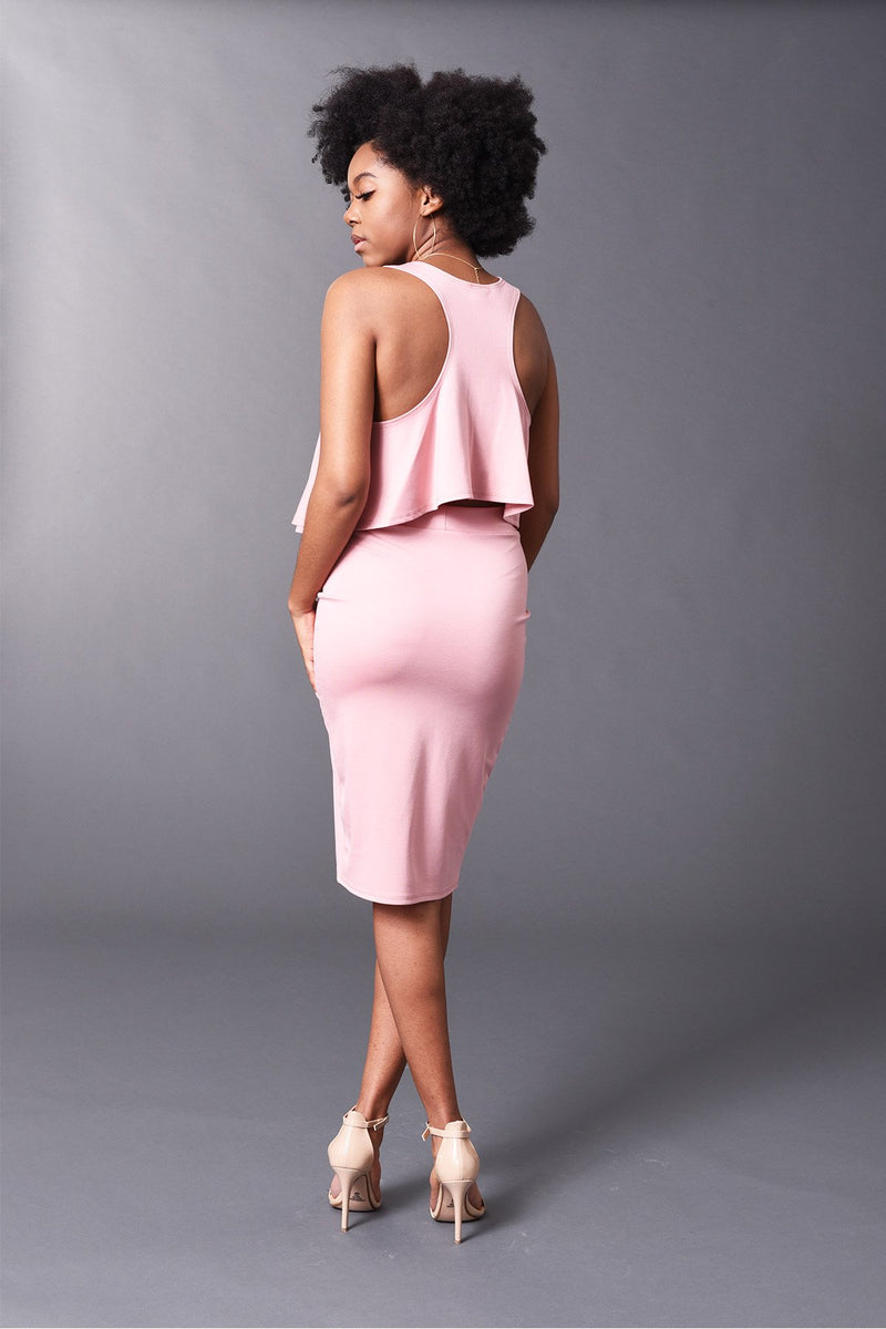 Kennedy - Blush Perfect Pencil Skirt - TN-53