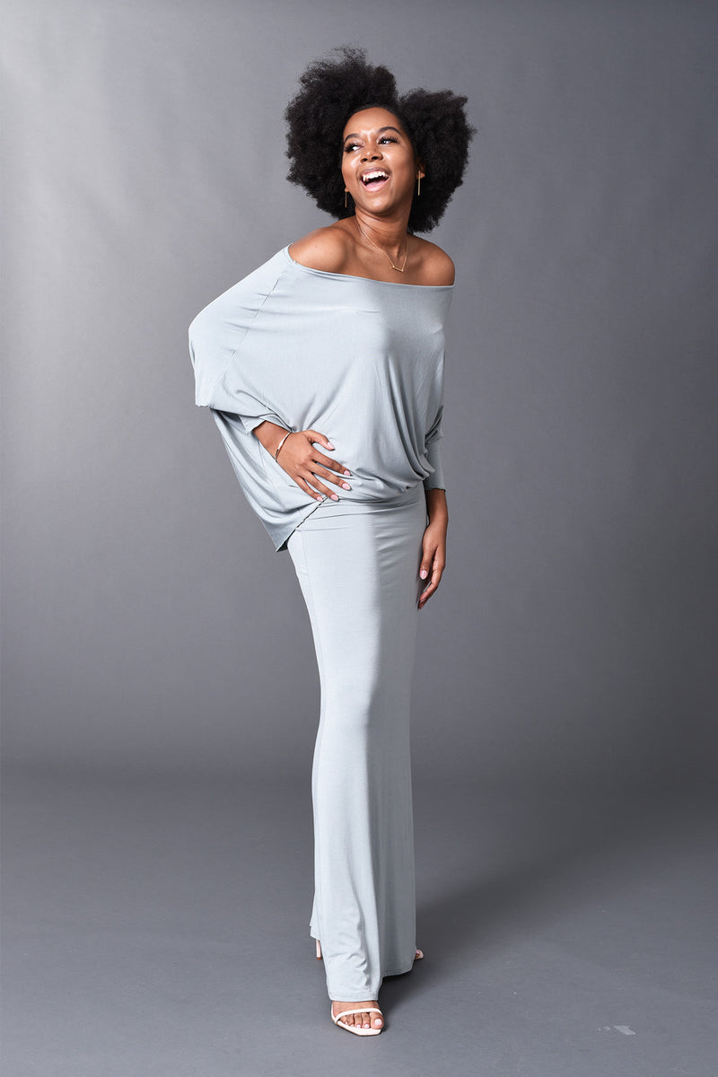 Lisa - Sage Long Sleeve Angled Top/Dress