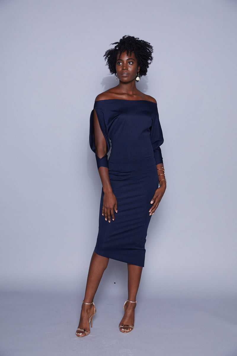 Madison - Lincoln Dress Navy or Black