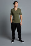 AYDEN - Olive Men's V-Neck T-Shirt (Pre-Order)