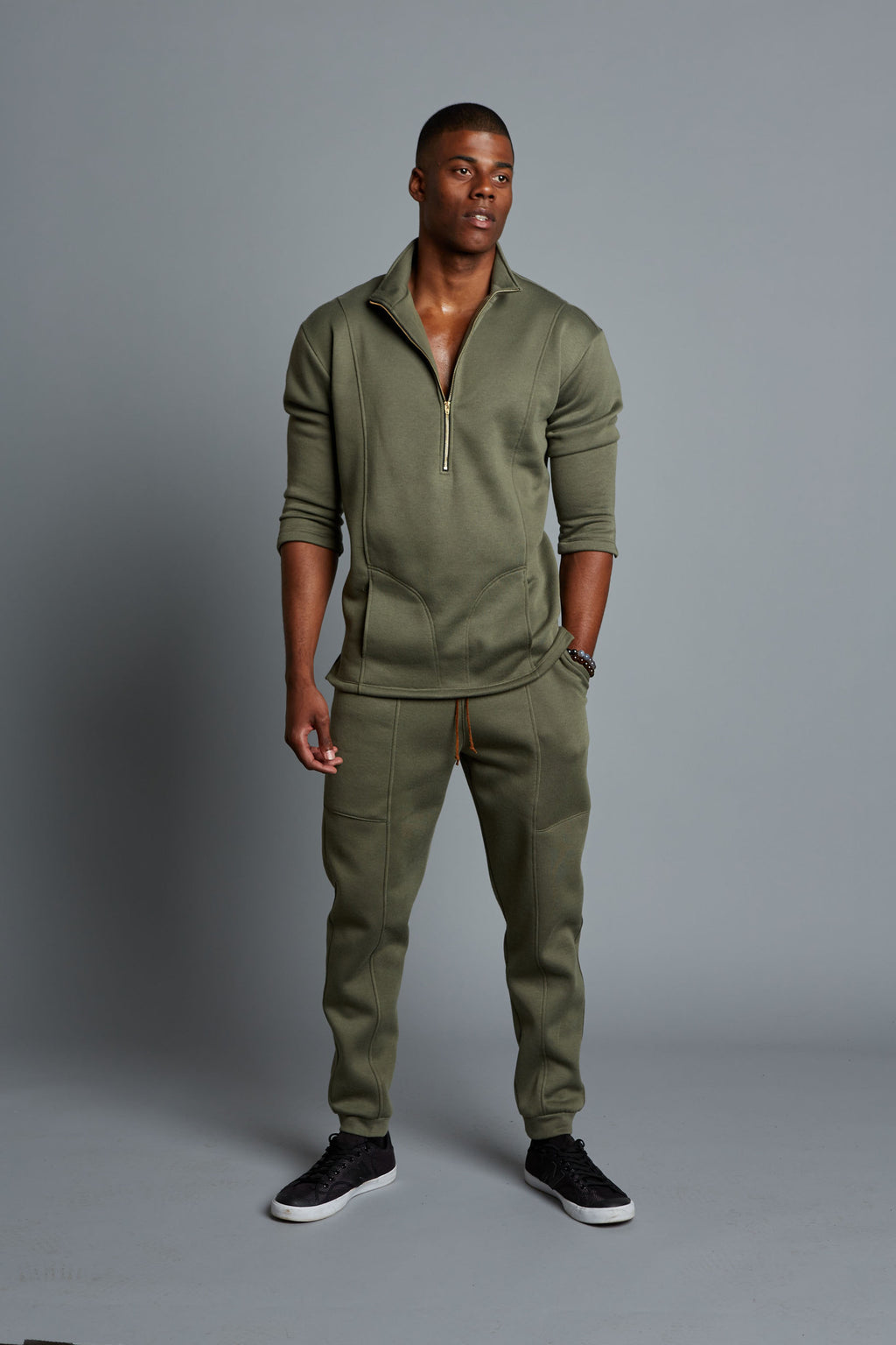 ADRIAN - Olive Men's Casual Jogger (Pre-Order)