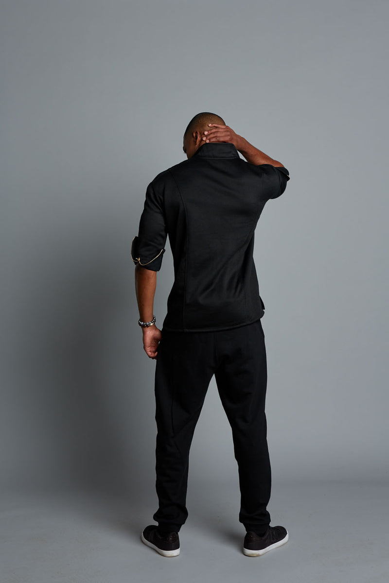 JAY - Black Men's Casual Pullover (Pre-Order)