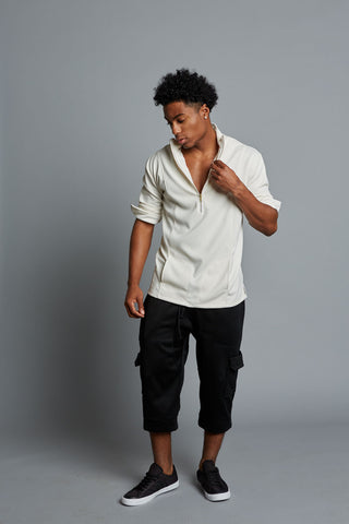 AUSTEN - Black Men's Cargo Pants (Pre-Order)