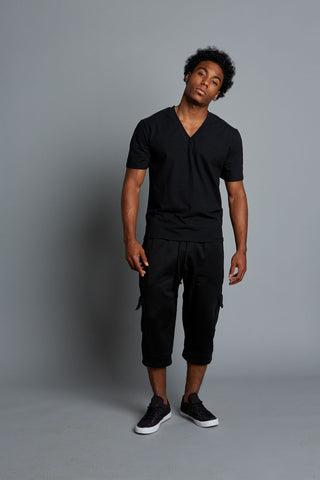 AYDEN - Black Men's V-Neck T-Shirt (Pre-Order)