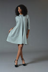 Charline - Grey Swing Dress Coat