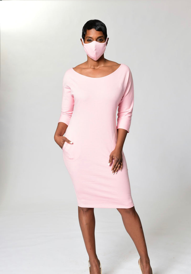 Pink Cloth Mask -TN-123