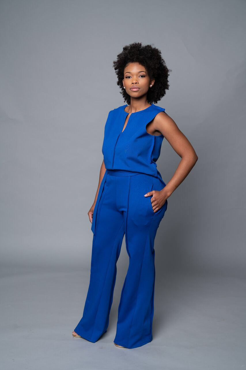 Yetta - Royal Blue Wide Leg Pants