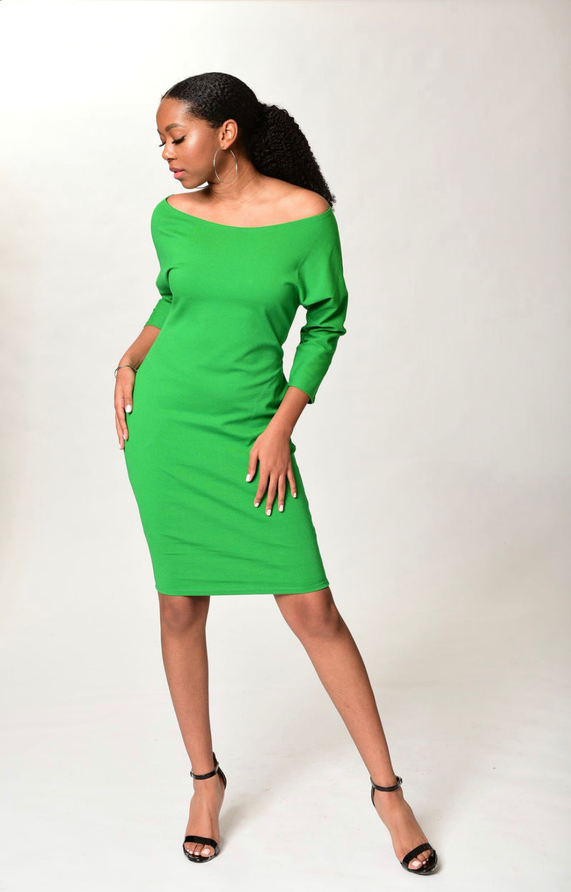 Danielle Dress With Pockets - Apple Green - TN-120