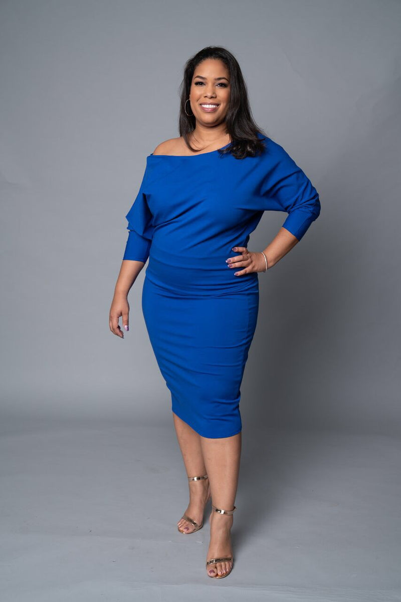 Kennedy - Royal Blue Perfect Pencil Skirt - TN-53