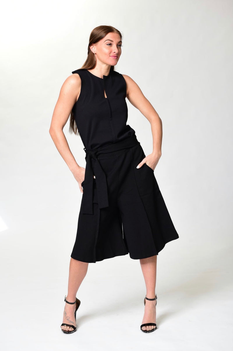Eboni - Black Wide Leg Shorts - TN-129