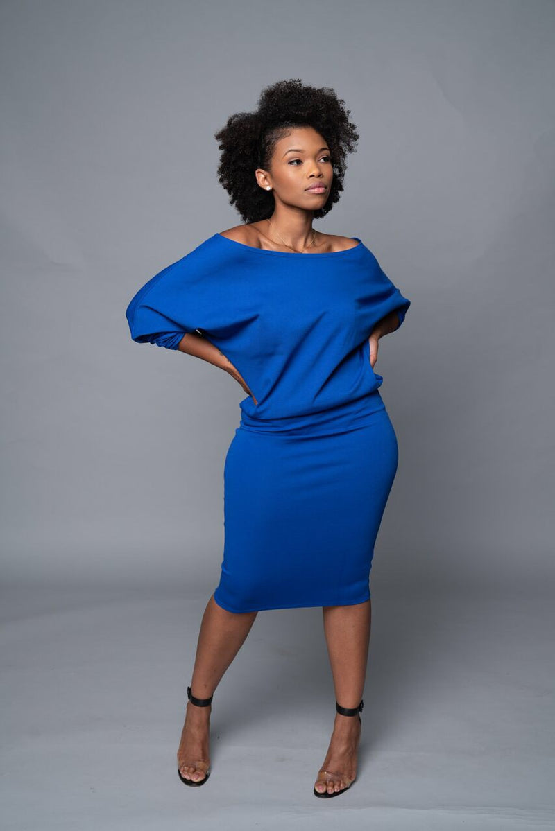 Kennedy - Royal Blue Perfect Pencil Skirt