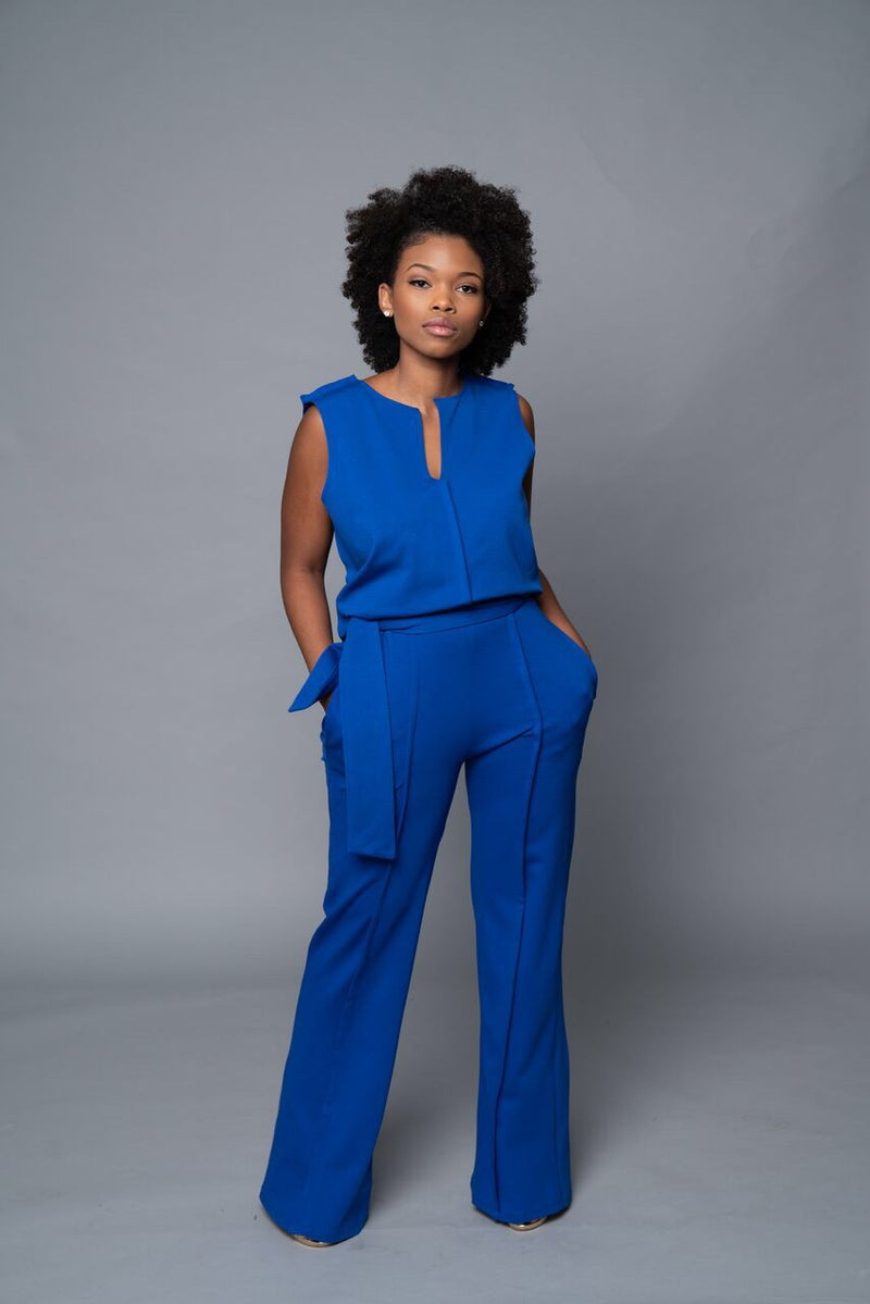 Yetta - Royal Blue Fall Wide Leg Pants