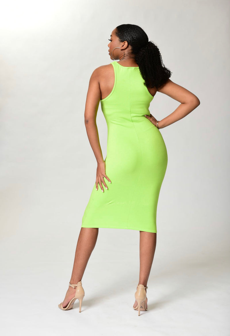 Nina Dress - Neon Green - TN-122