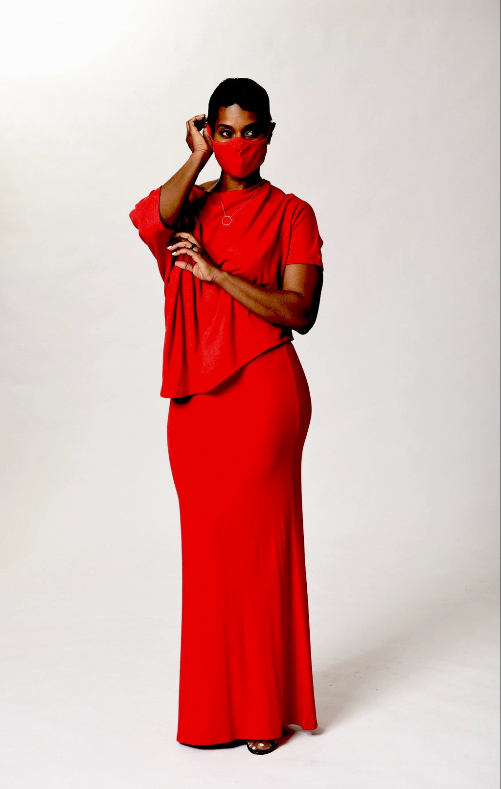Red Cloth Mask - TN-123