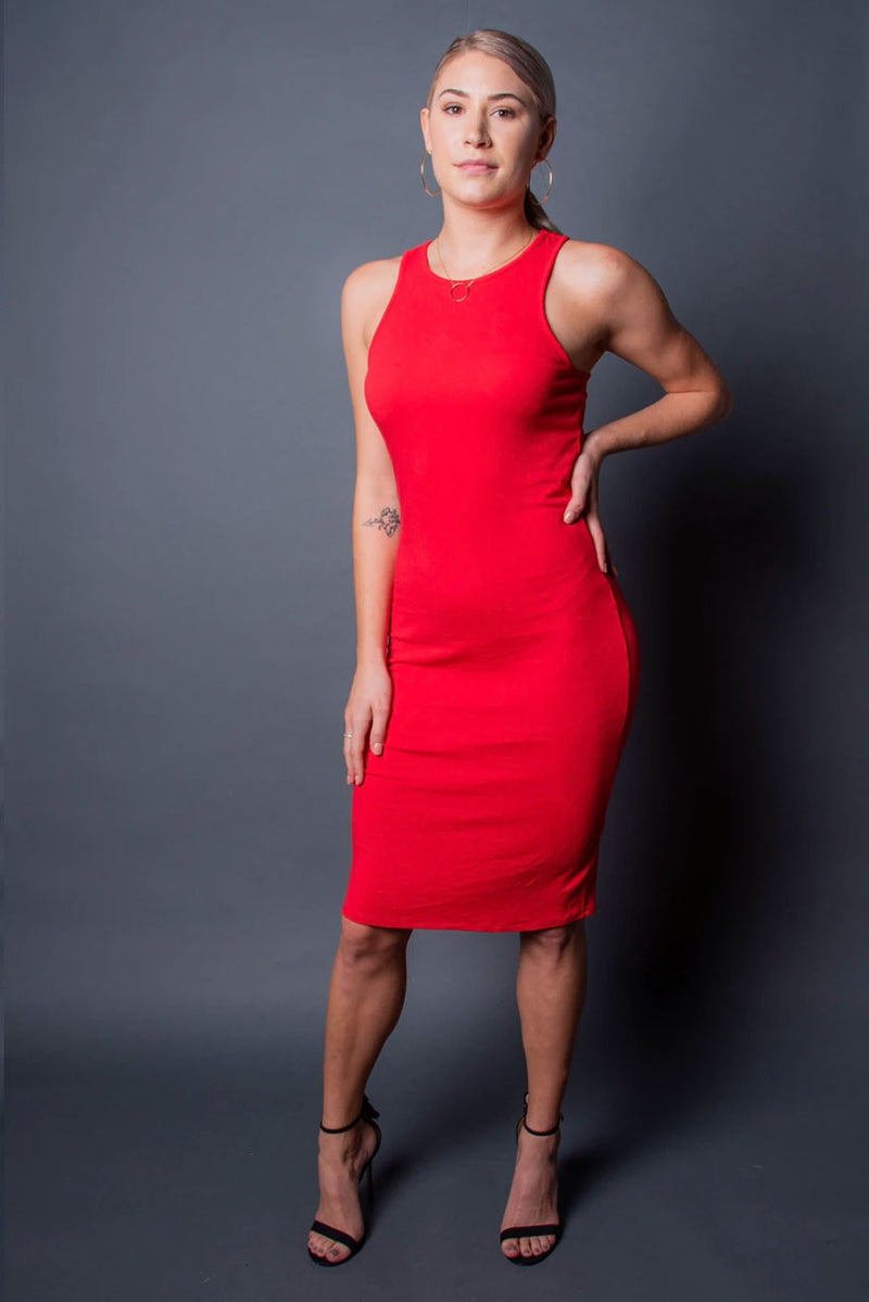 Nina Dress - Red -TN-122